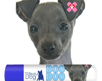 Italian Greyhound Boo Boo Butter Handcrafted Soothing All Natural Balm for Your IG's Itchy Skin Irritations and Skin Needs in Tins & Tubes