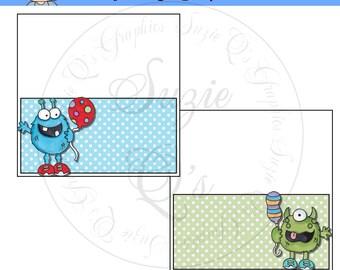 Birthday Monster Bag Topper Set - Digital Printable - Immediate Download