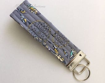 Wristlet Keyfob, quilted keyring, keychain . . . something pretty to put your keys on