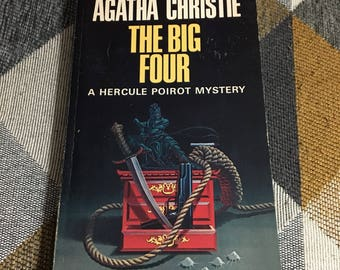 Vintage  1968 Agatha Christie The Big Four Paperback Book