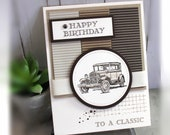 Masculine Card- Stampin' Up Happy Birthday