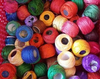 76 balls of DMC cotton perle embroidery floss