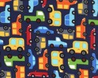 Nap Mat - Monogrammed Traffic Jam Cars Nap Mat with a Red Minky Dot Blanket