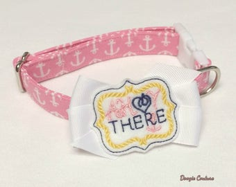 Ahoy There Summer Dog Collar Size XS through Large by Doogie Couture Pet Boutique