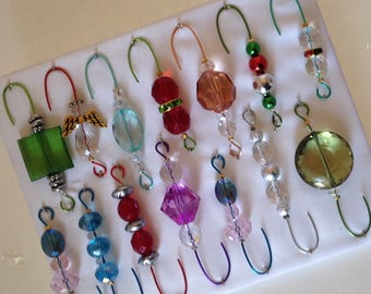 Only One Box Variety*14 - Beaded Ornament Hangers -  FREE SHIPPING