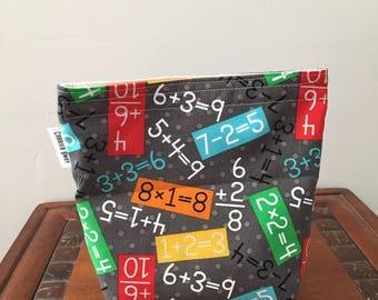 Math Numbers Sandwich Bag Snack Bag