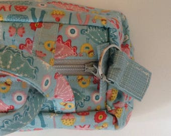 small handbag purse ballet bag. ballet bits, fairies, cakes and birds :)