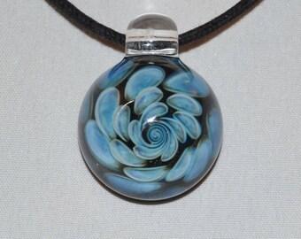 Trippy Glass Pendant - Dicro Glass Necklace - Heady Glass Pendant - Hand Blown Lampwork