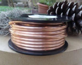 Copper Wire, Half Round Copper Wire, 6 Gauge Copper Wire, Dead Soft Copper Wire, 3 ft of Copper Wire