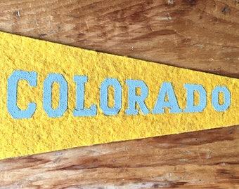 1960s University of Colorado Buffaloes College felt Mini Pennant