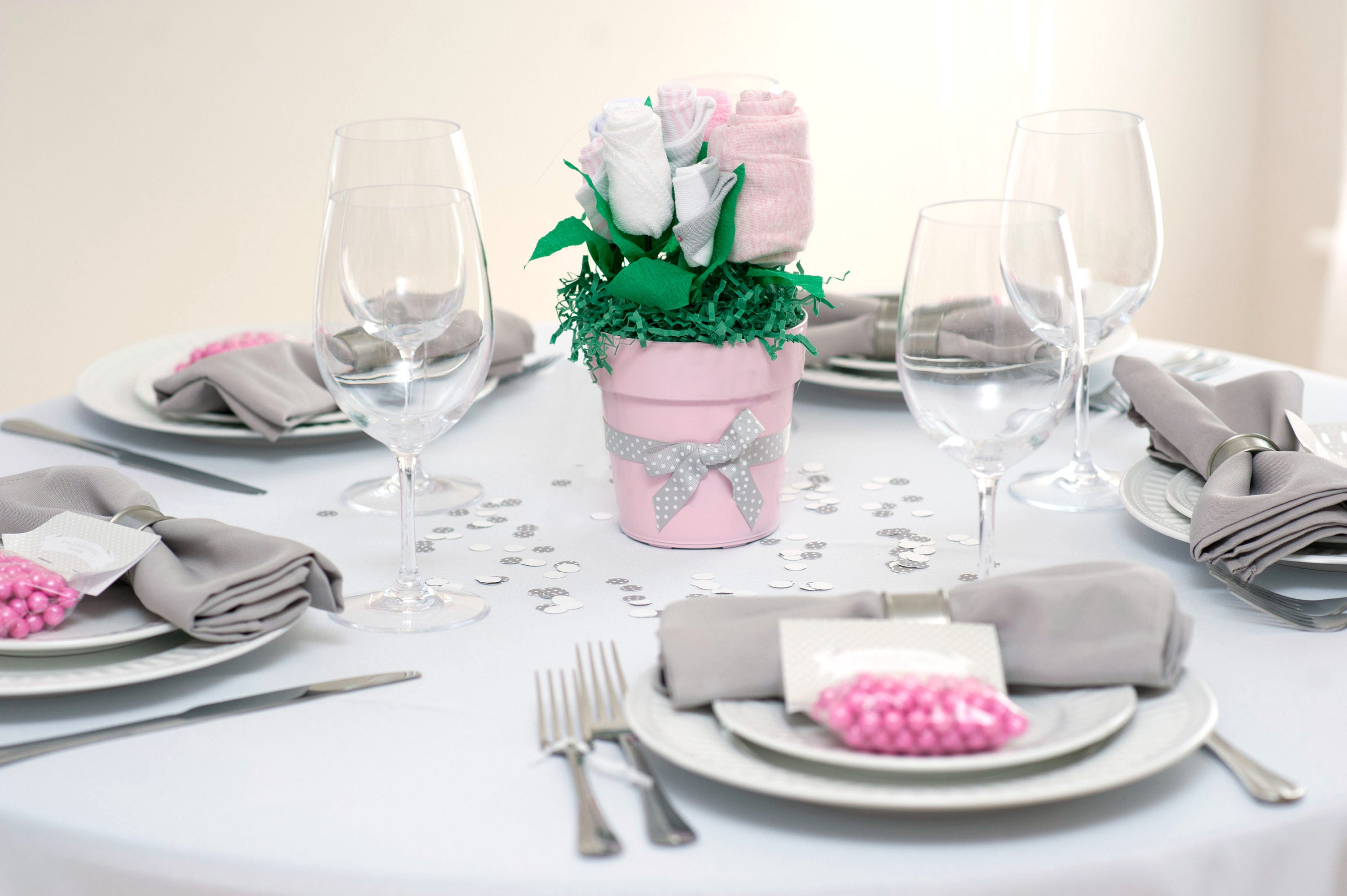 Baby girl shower centerpieces girl baby shower ideas for Baby shower decoration packages