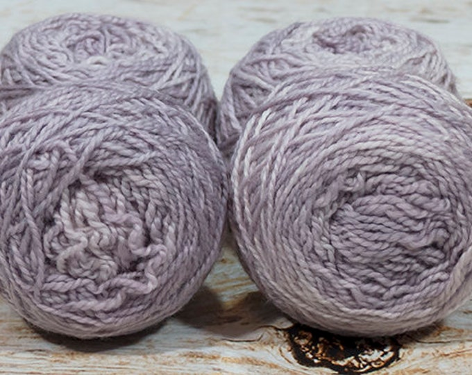 "Wee "" Amethyst Purple "" -Lleap Handpainted Semisolid Fingering Weight Yarn Mini Skein"