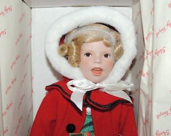 "Porcelain Shirley Temple Danbury Mint ""Little Caroler"""
