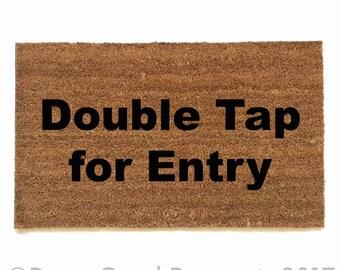 Double tap for Entry doormat geek nerd outdoor eco friendly home