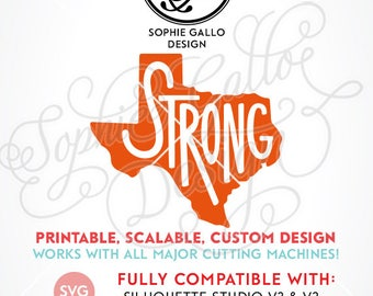 Texas State Strong SVG, DXF, PNG digital download file for Silhouette Cricut vector clip art graphics Vinyl Cutting Machine, Screen Printing