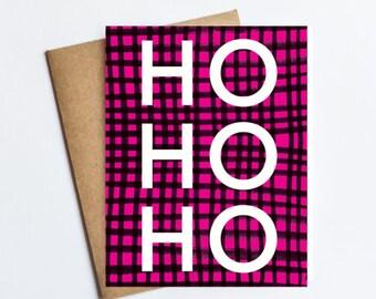 Ho Ho Ho - HOLIDAY NOTECARD