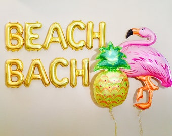 BEACH BACH Balloons, Beach Bach, Beach Bash,Beach Bachelorette Party, Bach Bash, Bachelorette Party Balloons, Beach Party, Beach Banners,