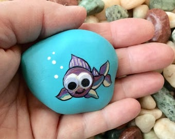 Painted Rock - Cute Googly-eyed Fish
