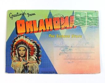 Vintage Oklahoma Souvenir Folder