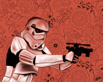 Storm Trooper Star Wars Art Star Wars poster Star Wars Decor Customizable Star Wars Gift Art Print Star Wars Home Decor Wall Art Print Decor