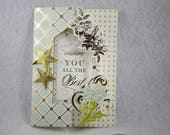 Handmade birthday Flip Card, happy birthday card, Anna Griffin birthday card