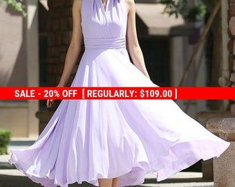 Maxi dress, purple dress, chiffon dress, prom dress, wedding dress, halter dress, convertible dress, evening dress, summer dress  (994)