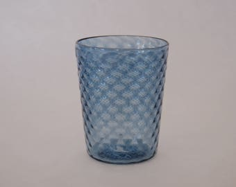 Hand blown Pineapple Tumbler - Pale Transparent Blue