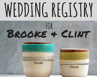 Brooke & Clint's wedding registry  - salt and pepper jar