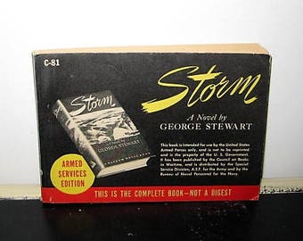 Storm by G. R. Stewart Armed Services Division Books For Soldiers,Storm Book For The WW2 Military,WW2 Books For Soldiers,Novels For Military