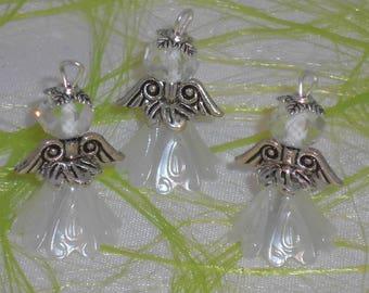 3 pendentifs breloques anges à suspendre déco sapin de Noël 2.7 cm LOT B