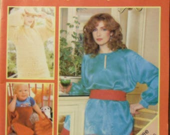 Vintage Stitch By Stitch Magazine Step by Step Sewing Knitting Crochet Issue #3 1982