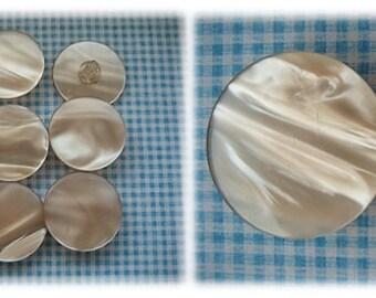 Soft Peach 1960's Buttons