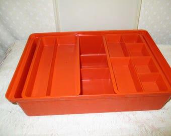 Orange Tupperware Stow N Go Hobby Organizer