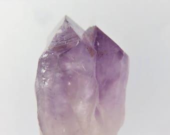 Amethyst,Brazillian Amethyst Sceptre w Two Points, Chakra Stone, Healing Stones, Meditation, Chakra Balancing, Amethyst Point