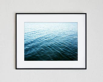 OMBRE WATERS | instant download,wall art, modern, lake, ocean, sea, summer, ombre, watercolor, blue, tropical, minimalist, seascape