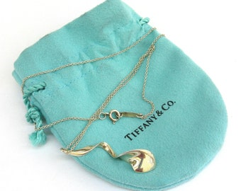 vintage Tiffany & Co sterling silver necklace  ...   frank gehry orchid pendant