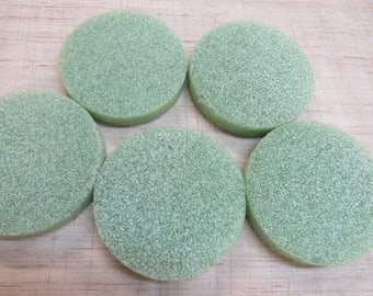 36 green styrofoam disc 4X1-3/4""