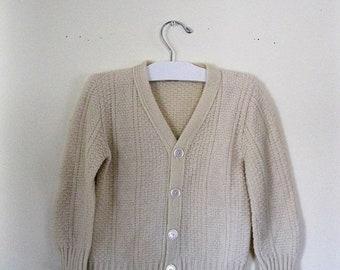 "Spring SALE Vintage Children's 60s cardigan sweater / Grunge Hipster ""old man"" cardigan / Kid's cardigan sweater"
