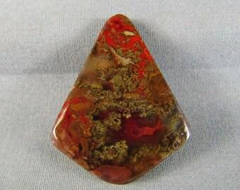 Moroccan Red Seam Agate Cabochon