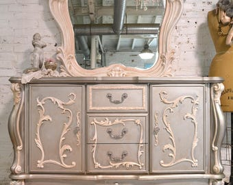 Painted Cottage Chic Shabby Romantic French Dresser ACDR10