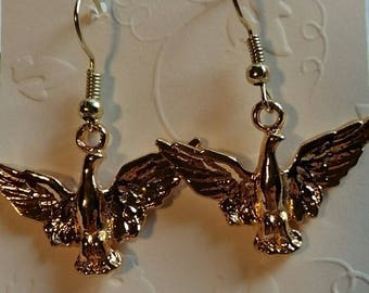 Bird  in Flight Earrings