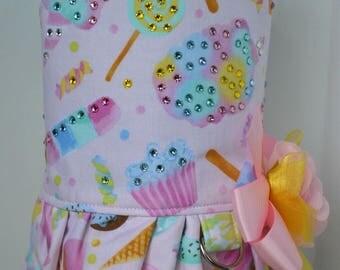 Dog Harness Vest - Cotton Candy Cupcake