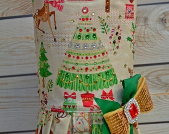 Dog Harness Vest, Winter Dog Dress, Reindeer, Stag, Christmas Tree, Dress for Dog, Christmas, Small Dog Clothes, Large Dog, Gifts for Dogs