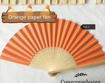 Orange paper fan for wedding guests,before 3.00 Now2.00,harry up!
