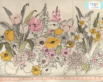Vintage Pillowcase with Placed Yellow Floral