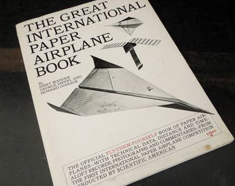 Vintage Book Paper Airplane Making - The Great International Paper Airplane Book - 1967 Competition