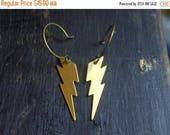 The  Lightning Bolt Earrings. God of lightning. Brass Lightning Bolt earrings.