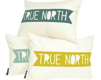 Nautical pillow, nautical decor, decorative pillows, accent pillow cover, find your true north, nautical nursery, beach decor