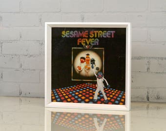 "Record LP Frame 12.5x12.5"" in Park Slope Style with Solid White Finish - IN STOCK - Same Day Shipping - Album Cover Frame"