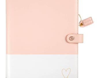 Color Crush Blush & Gold Heart Composition Planner (IN STOCK) Free Washi Tape with this order (CP001-BH)